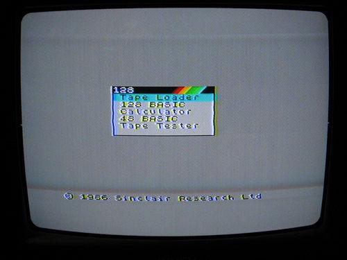 zx-spectrum 128 menu