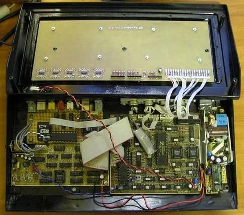 zx-spectrum under the keyboard